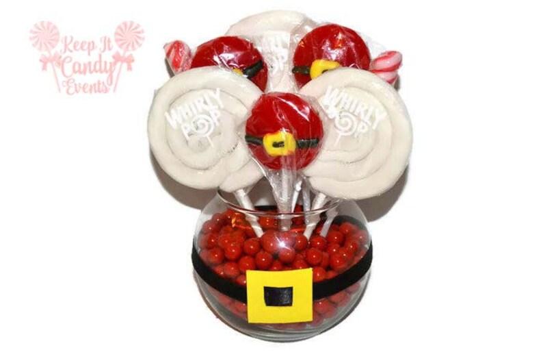 Lollipop Christmas Santa Centerpiece Santa Candy Centerpiece image 0