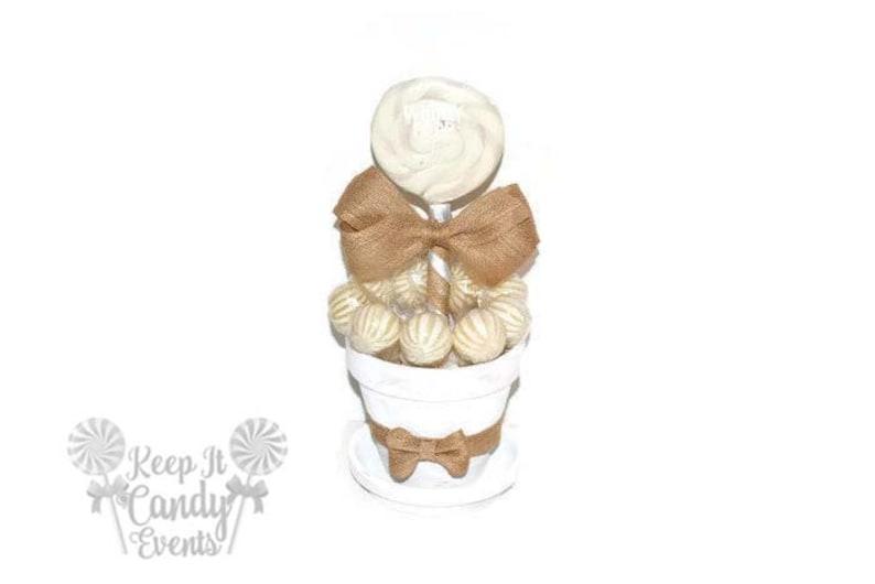 Medium White Rustic Lollipop Centerpiece Rustic Wedding image 0