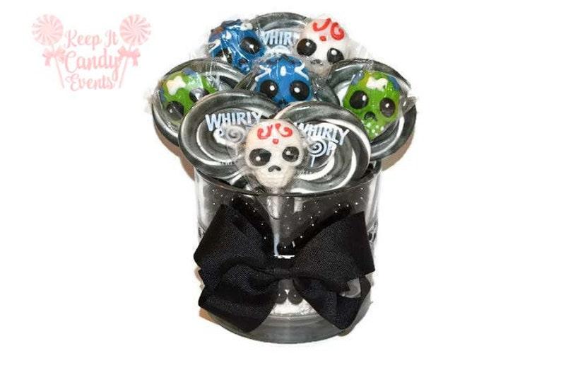 Sugar Skull Lollipop Centerpiece Halloween Candy Centerpiece image 0