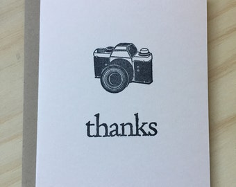 Vintage Camera Set of 8 CUSTOM Personalized Flat Note Cards Stationery