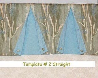 Straight Valance Template # 2 by Pam Damour