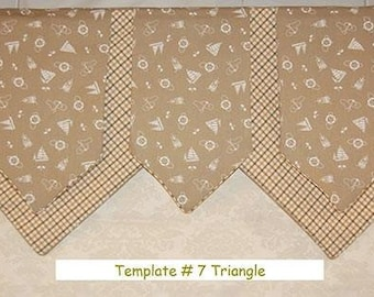 Triangular Valance Template #7    by Pam Damour