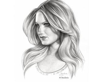 Custom portraits, original drawing gift
