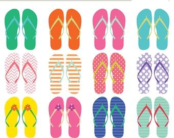 Flip Flop Clip Art (Royalty Free) Sandals Summer Beach clipart