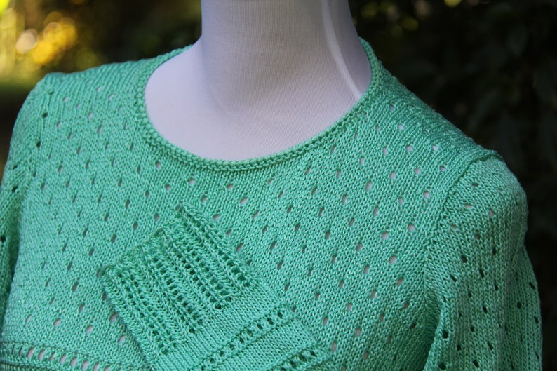 AU 10-12 Hand knitted Cottonviscose Women/'s pulloverjumper size ML