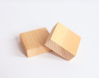 Wood Block - 3 Rubber Stamp Wood Block - Wood Block  - Handmade Rubber Stamps Blocks -  Wood Carving Tools - Rubber Stamp Tool