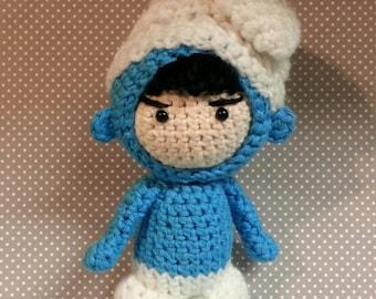 Amigurumi Doll in Smurf Costume Cosplay