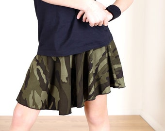 SALE !!!!! Girls Green Camo Flare Skirt ...Super soft and cute