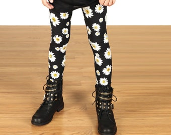 Kids/Girls Grunge 90's Daisy Leggings
