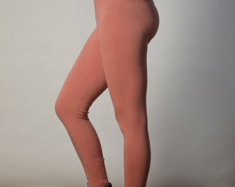 Sale! Dusty Pink Revolt Stretch Cotton Leggings