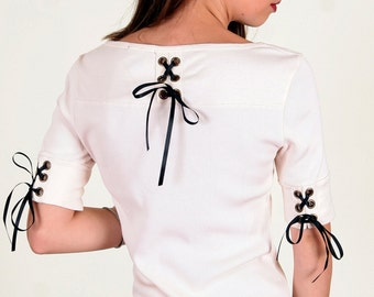 SALE - Lace Up Tunic Top