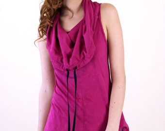 SALE! Orchid Cotton Sleeveless Cowl Neck Top