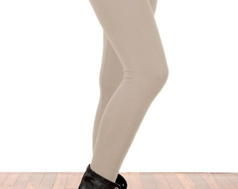 Nude Natural Khaki Mocha Tan Leggings