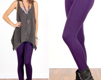 Dark Eggplant Purple Leggings