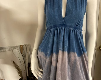 Grecian Goddess Pocket Dress -  Blue acid Ombré