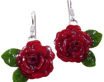 Orecchini rose rosse 83a8ce2351fc