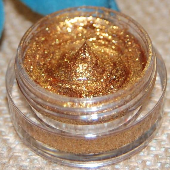 GOLD GLITTER, All Natural, Vegan Glitter Makeup Gel