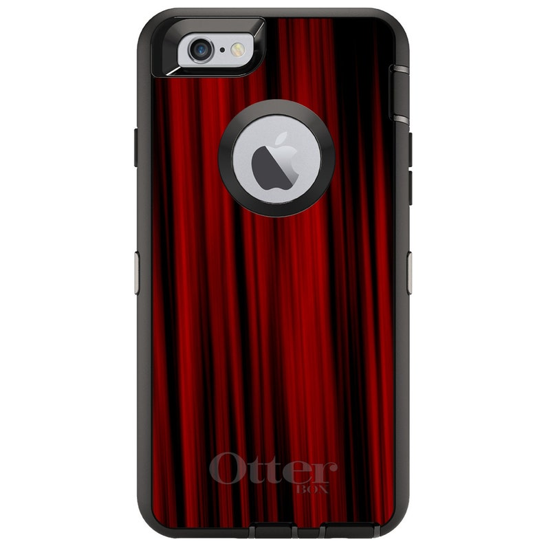 - Personalized Monogram Choose Model Bright Red Curtains CUSTOM OtterBox Defender Case for Apple iPhone