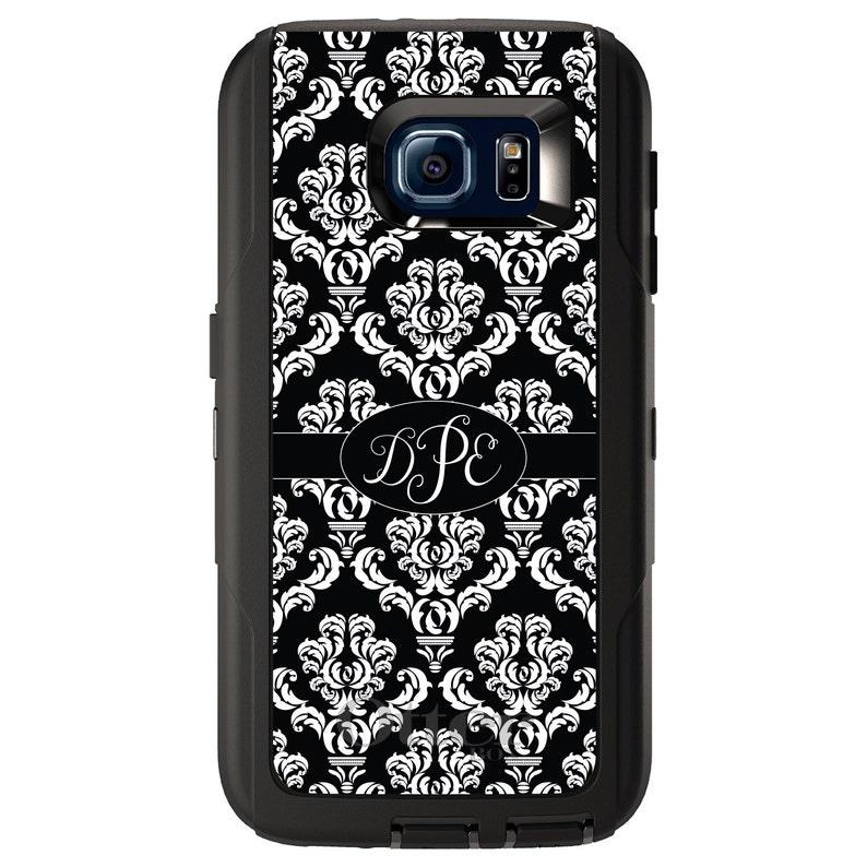 Choose Model Black Oval Damask Ribbon Custom OtterBox Defender for Galaxy S  Galaxy Note