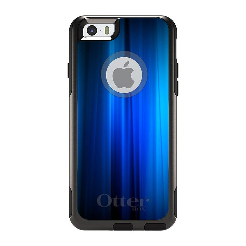 Any Colors Choose Model Bright Blue Curtain - Custom Monogram OtterBox Commuter for Apple iPhone