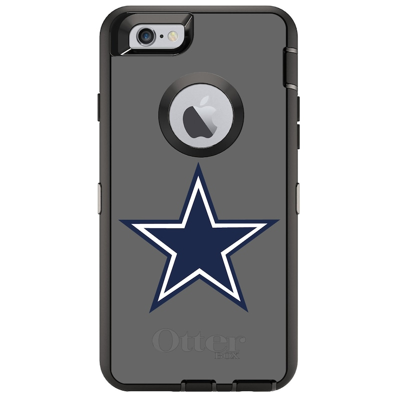 official photos d2845 bae70 Custom OtterBox Defender Case for Apple iPhone 6 6S 7 8 Plus X XS Max XR -  Personalized Monogram - Dallas Star