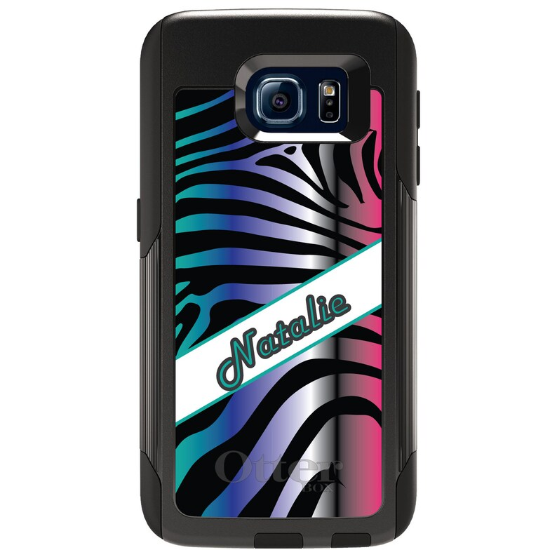 Choose Model - CUSTOM Monogram OtterBox Commuter for Samsung Galaxy S  Galaxy Note Teal Purple Silver Pink Zebra Name