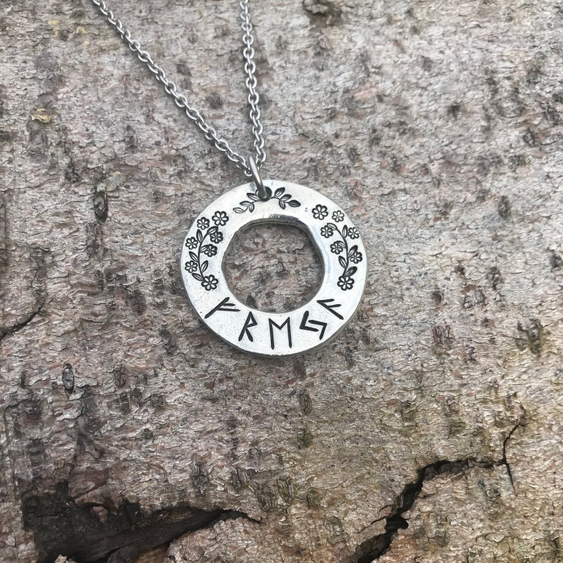warrior or personalised sells services fighter viking jewellery pewter sword hand stamped necklace Sellsword with sword