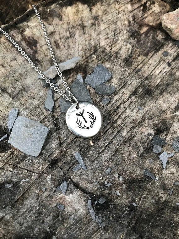 Viking jewellery Hand Stamped pewter Rune