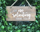 No Soliciting Sign Do Not Disturb Sign Porch Decor No Soliciting Door Sign No Solicitation Sign Do Not Ring Bell Sign Porch Sign