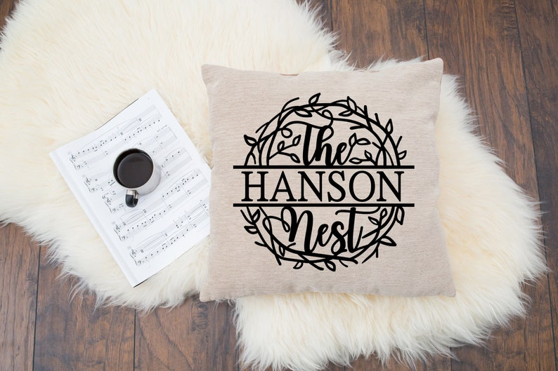 Family Personalized Throw Pillow Cover Custom Throw Pillow  image 0