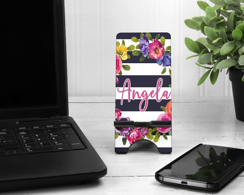 Phone Stand  Personalized Phone Stand  Desk Phone Stand image 0