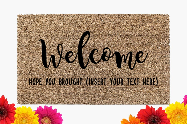 Welcome Doormat  Funny Door Mat  Coir Doormat  Custom Mat  image 0