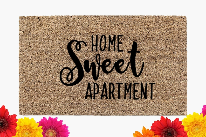 Home Sweet Apartment Doormat  Door Mat  Coir Doormat  image 0
