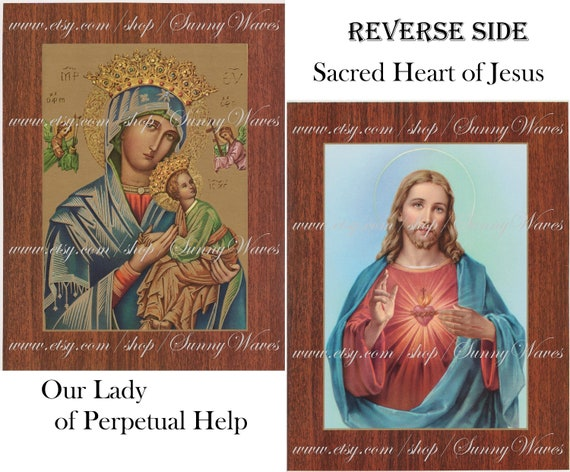 MOTHER OF PERPETUAL HELP WOODEN PLAQUE PICTURE RELIGIOUS CATHOLIC OTHERS LISTED