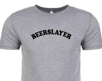 BEERSLAYER - Tri-Blend  t-shirt! all sizes many colors