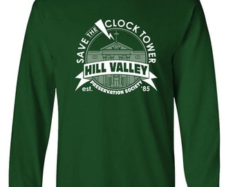 40b43a4f SAVE the CLOCK TOWER - Unisex Cotton Long Sleeved T-Shirt