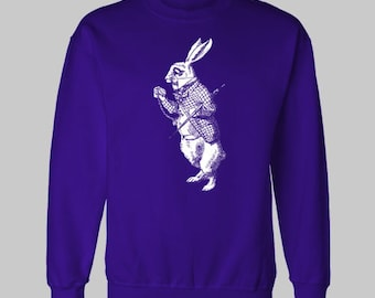 ALICE'S ADVENTURES in WONDERLAND White Rabbit sweatshirt sweat shirt