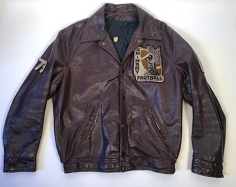 Vintage 1973 Grimsby Eagles Leather Jacket 7ad617eee
