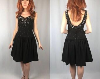 e95aa8f7dd2 Vintage 1990 s Morton Myles Black Pearl Party Dress
