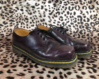 Rare 1990's Purple Made in England Dr. Martens UK Size 6 Size 8 US