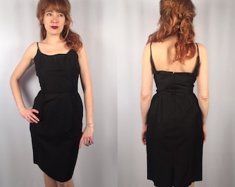 Classic 1960's Little Black Dress Bobbie Brooks Small