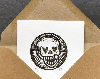 Set of 8 Mini Skull Prints on Japanese Paper - Signed, Numbered Edition of 22