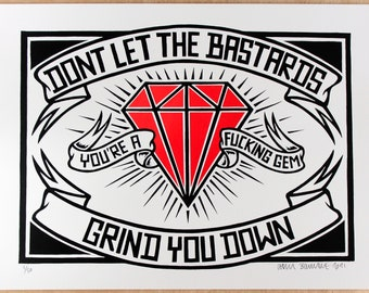 Don't - Ruby Edition - Screen Print, Signed and Numbered Edition of 50