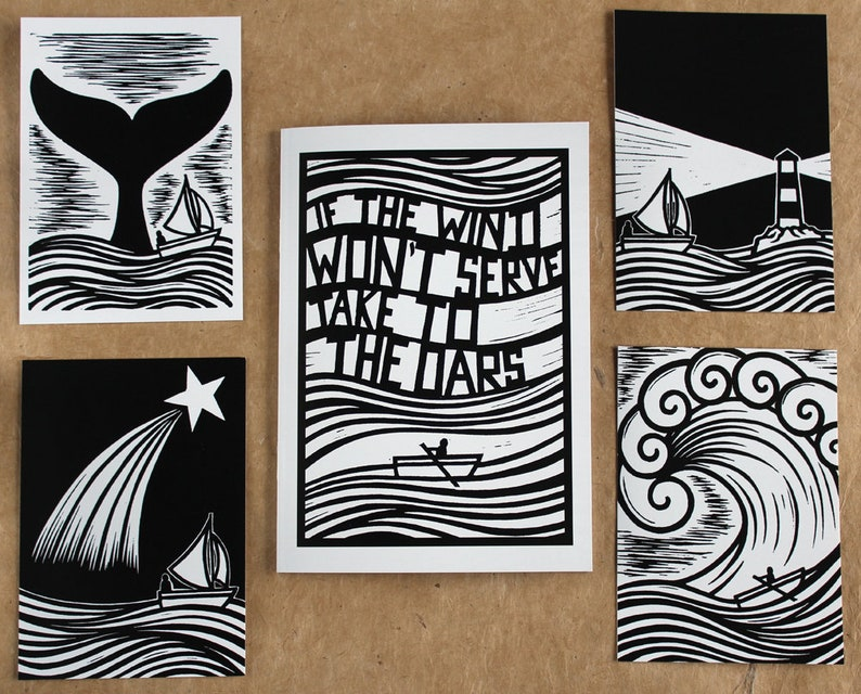 New Version A5 Zine / Artist Book  4 postcards  A wordless image 0