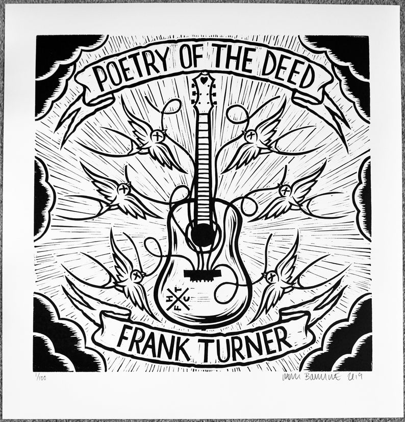 Frank Turner Poetry of the Deed 10 year anniversary album artwork Chris Bourke