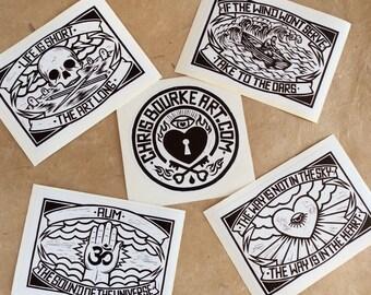 Chris Bourke Art Sticker Pack - Ten piece sticker pack