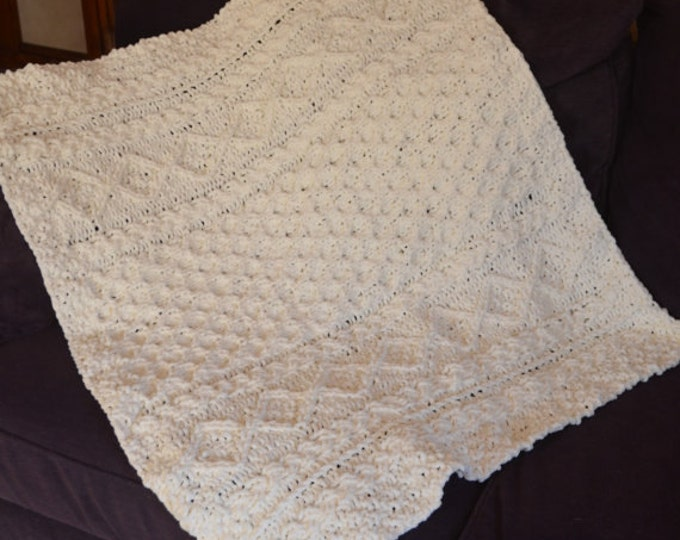 Irish Baby or Toddler Blanket -- MADE TO ORDER