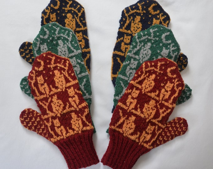 Harry Potter Inspired O.W.L. Mittens - MADE TO ORDER