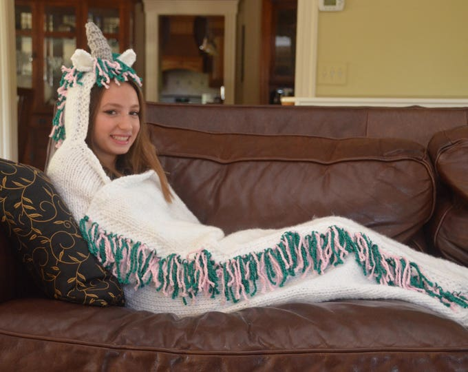 Unicorn Hooded Blanket - MADE TO ORDER