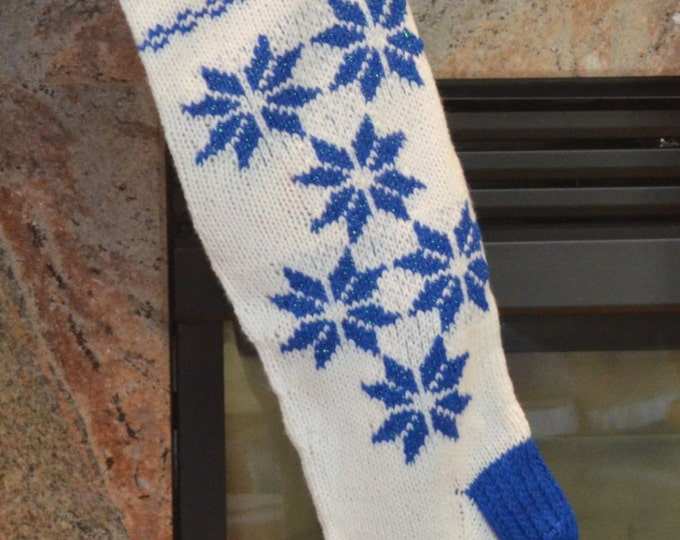 Christmas Stocking, Snowflake, Fully Lined, Heirloom Quality